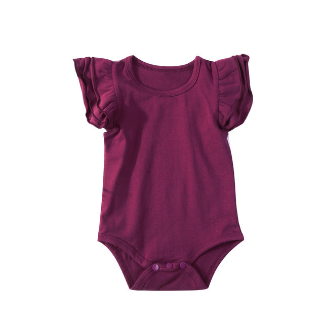 Burgundy Basic Flutter Bodysuit