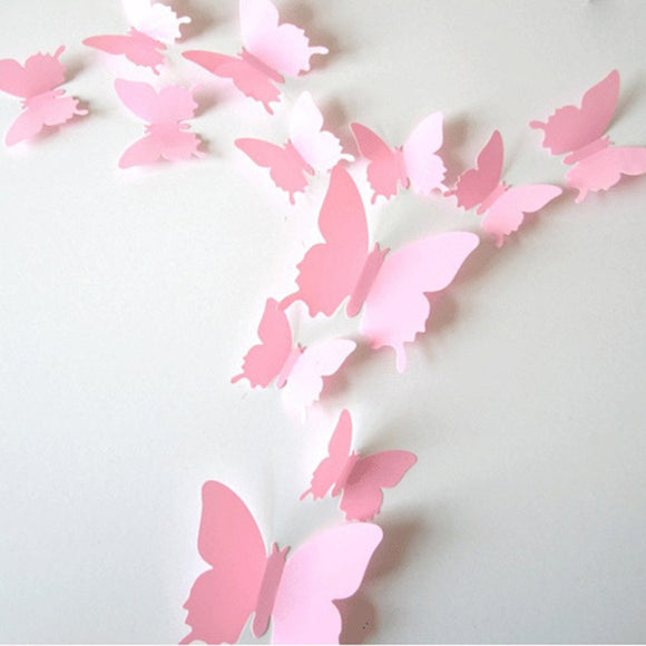 3D Butterfly Wall Stickers (Set of 12)