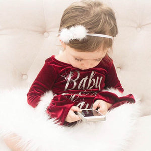 Plush Baby Claus Bodysuit