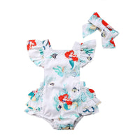 Little Mermaid Romper + Headband