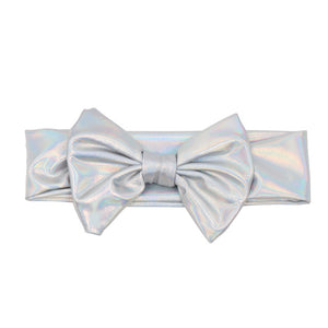 Silvery-White Metallic Bowknot Headband