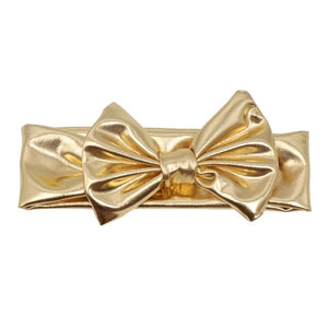 Gold Metallic Bowknot Headband