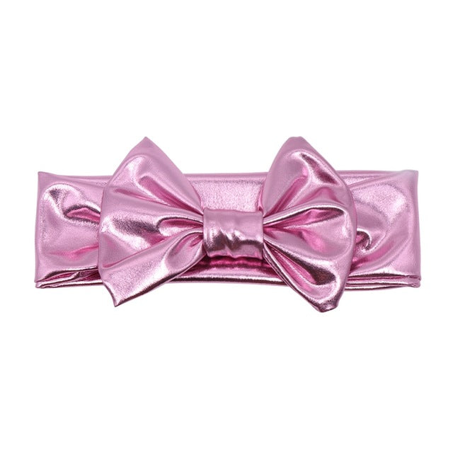 Pink Metallic Bowknot Headband
