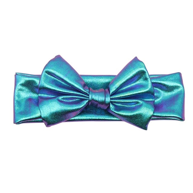 Blue Metallic Bowknot Headband