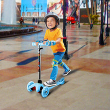 Load image into Gallery viewer, Kinder Kleinkinder Roller Scooter 3 Räder Verstellbare Mini Kinderscooter Kinderroller Dreiräder mit Blinkenden LED-rollen für Jüngere Mädchen