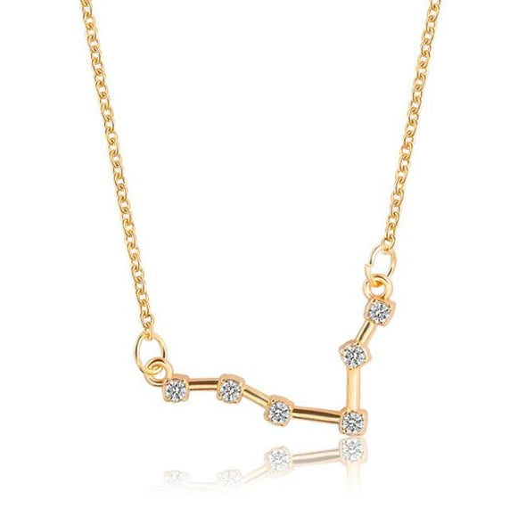 Zodiac Sign Necklace, Sign - Pisces