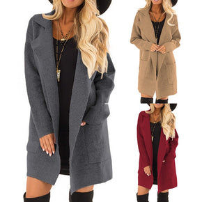Women's Open Front Long Sleeve Coat