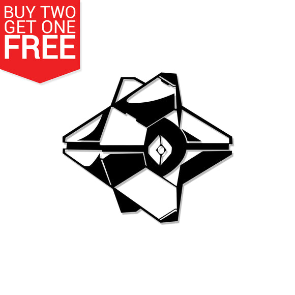 Destiny 3D Ghost Vinyl Decal - 8 Bit Decals