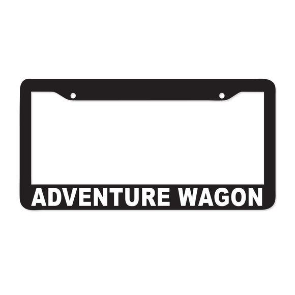 Adventure Wagon License Plate Frame - 8 Bit Decals