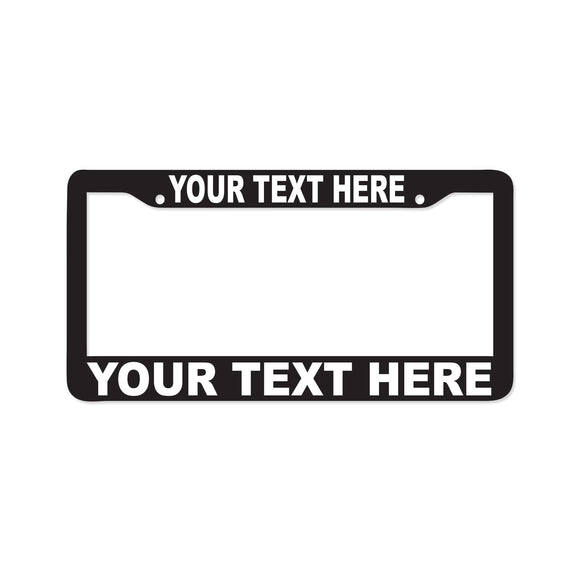 Custom License Plate Frame - 8 Bit Decals