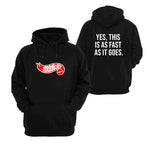 "Honda Monkey Hot Wheels ""Yes, This Is As Fast As It Goes"" Hoodie"