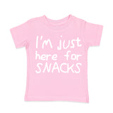 I'm Just Here For The Snacks Toddler T-Shirt - 8 Bit Decals