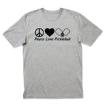 Peace, Love, Pickleball T-Shirt - 8 Bit Decals
