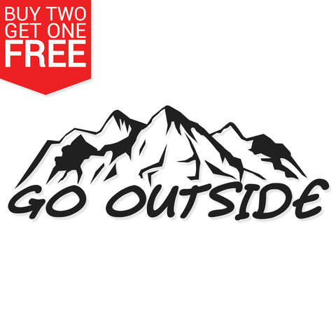 Go Outside Vinyl Decal - 8 Bit Decals