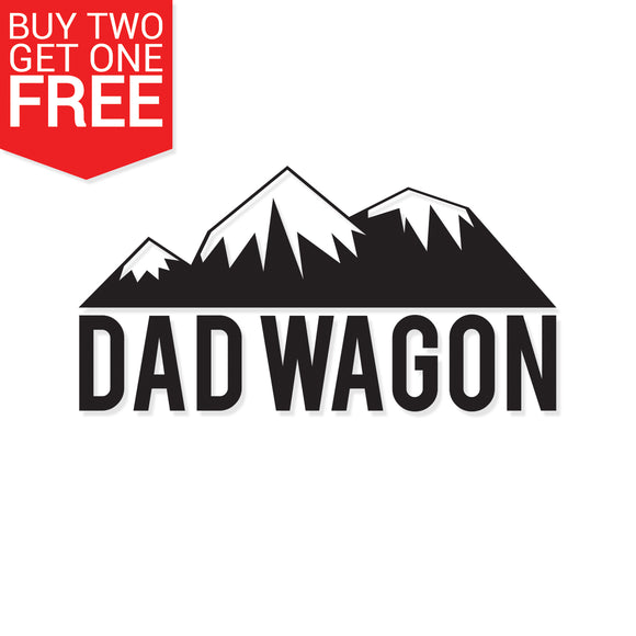 Dad Wagon Mountains Vinyl Decal - 8 Bit Decals