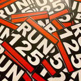 RUN 125 Die Cut Vinyl Decal - 8 Bit Decals