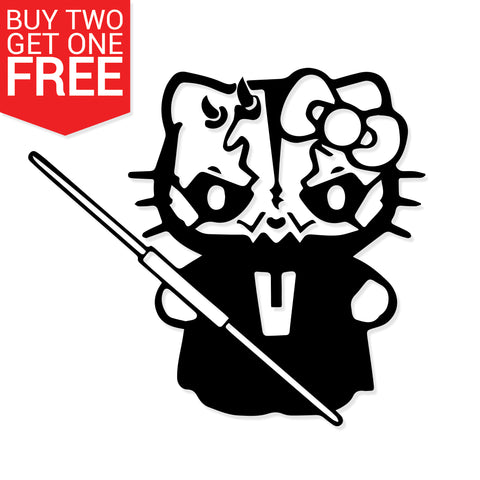 Hello Kitty Darth Maul Vinyl Decal - 8 Bit Decals