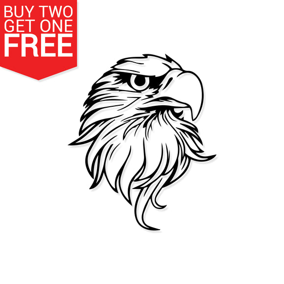 Bald Eagle Vinyl Decal - 8 Bit Decals