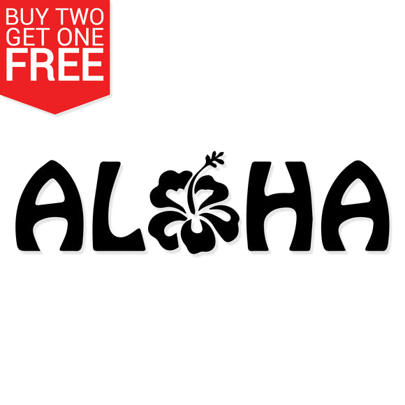 Aloha Flower Vinyl Decal - 8 Bit Decals