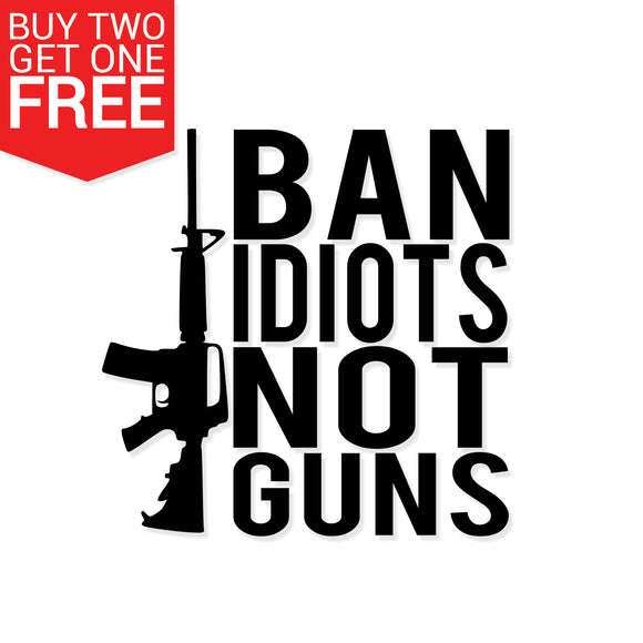 Ban Idiots Vinyl Decal - 8 Bit Decals