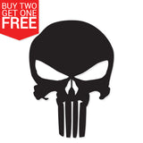 Punisher Skull Vinyl Decal - 8 Bit Decals