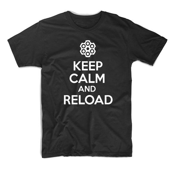 Keep Calm and Reload T-Shirt - 8 Bit Decals