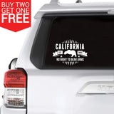 "California ""No Right To Bear Arms"" Vinyl Decal - 8 Bit Decals"