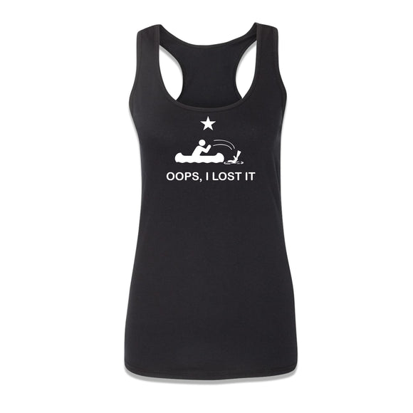 Oops! I Lost it Womens Racerback - 8 Bit Decals