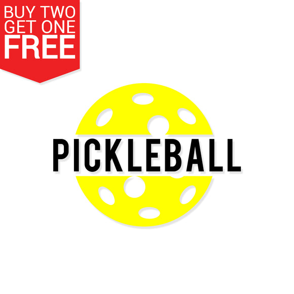 Pickleball Vinyl Decal - 8 Bit Decals