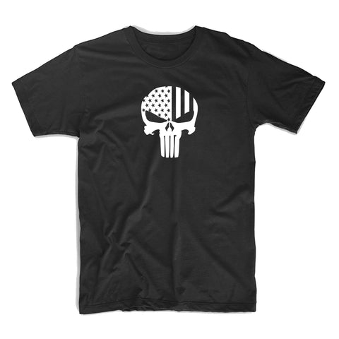Punisher American Flag T-Shirt - 8 Bit Decals