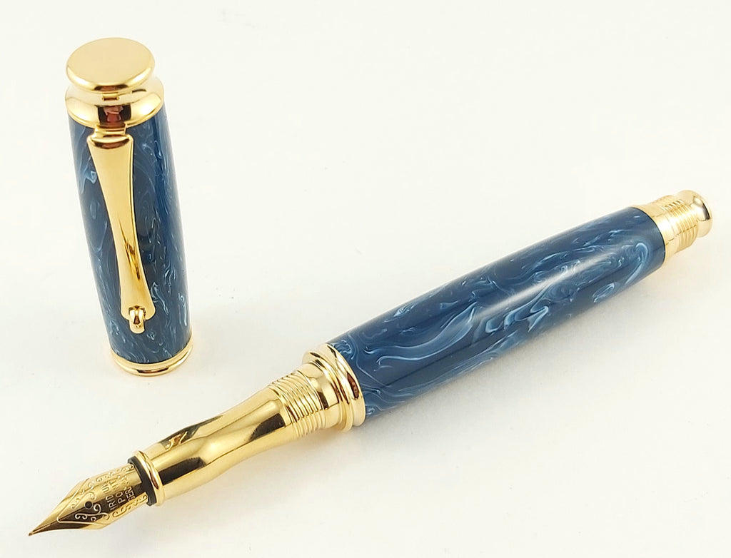 Virage Fountain Pen - Amedeo Blue #2407