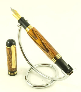 Churchill Fountain Pen - Cocobolo King #2491