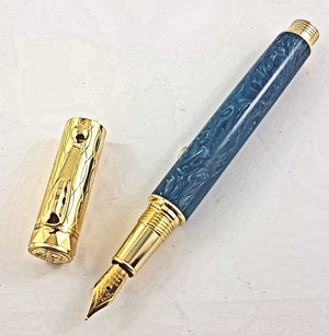 Electra FP with Amedeo Blue Marble Resin #1329