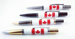 Maple Leaf  Click Pen - Gold and Chrome #1501