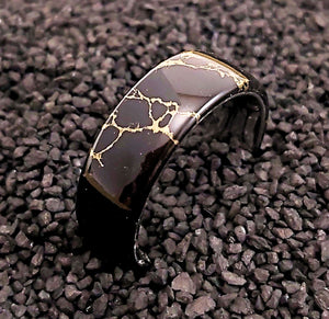 Black and Gold Matrix Comfort Core Ring