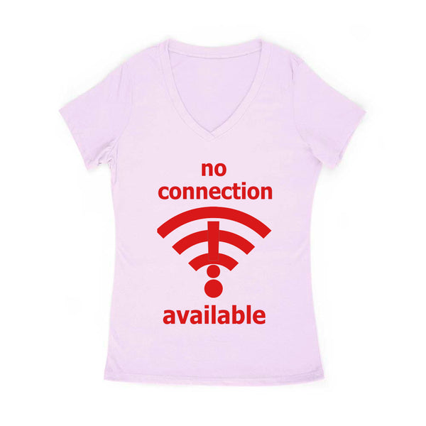 No Connection Available Women's V Neck