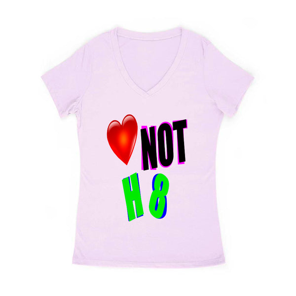 Love Not H8 Women's V Neck