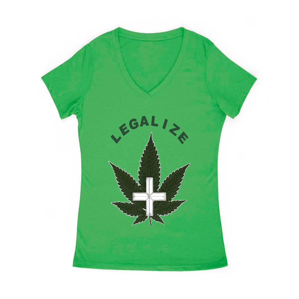 Legalize 420 Women's V Neck