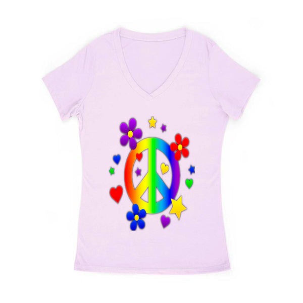 Peace and Love Woomen's V Neck