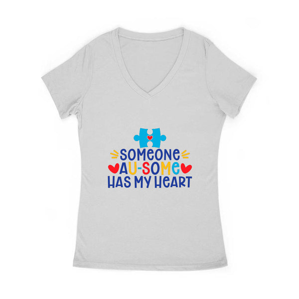 Someone Au-Some Has My Heart Women's V Neck