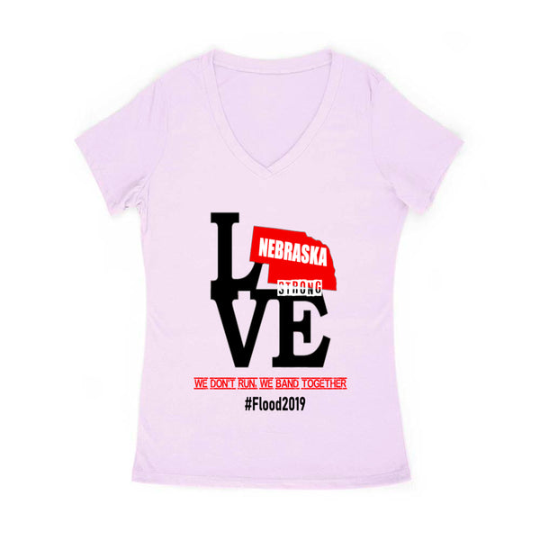 Nebraska Strong #Flood2019 Women's V Neck