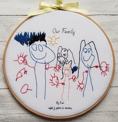 kids drawing little artist family portait