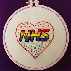 NHS Lucy Martin Embroidery template  hand embroidery hoop kit needle and natter