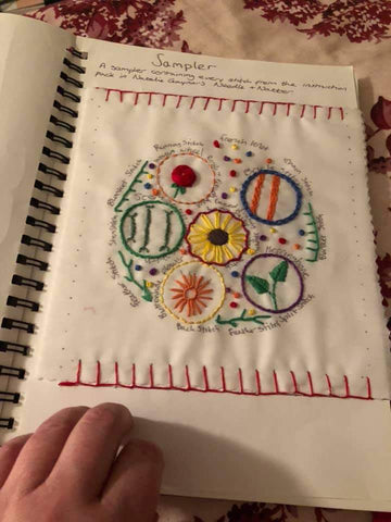embroidery stitches guide journal