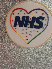 lucy Martin NHS embroidery template  hand embroidery hoop kit needle and natter