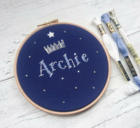 "Prince/Princess 6"" Custom Name Hoop - Nursery Decor Children's Bedroom"