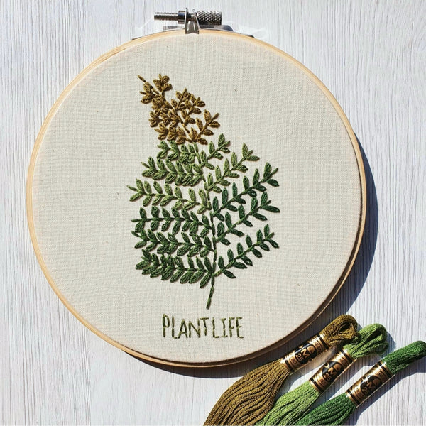 "Botanical - 6"" Hand Embroidery Kit"