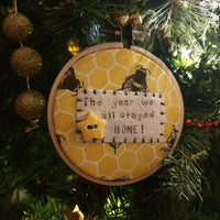 Bee Ornaments - Christmas - manchester hoop art