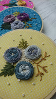 Woven wheel embroidery craft course