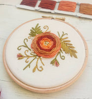 "4"" Floral Spray - Ready To Buy Hoop Art"
